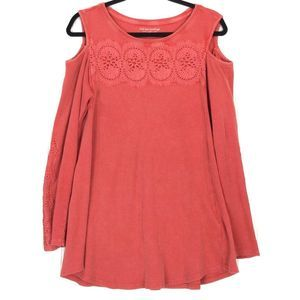 Soft Surroundings red Tartine Thermal Top A0583